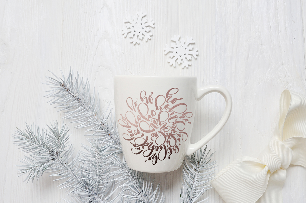 Christmas Mug and Letter Mockups Graphic Product Mockups By Happy Letters - Image 3