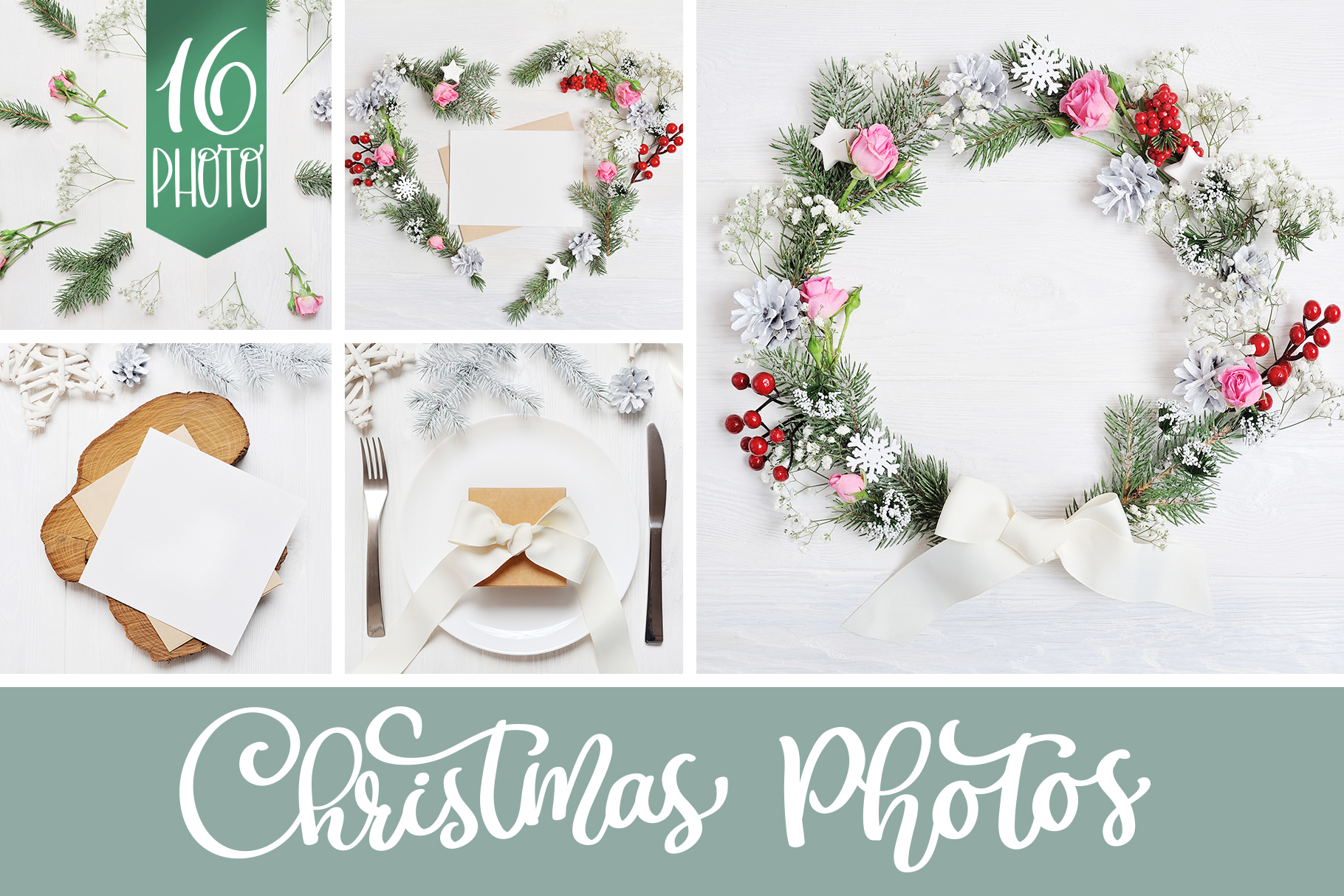 Christmas Photo Pack Graphic Holidays By Happy Letters