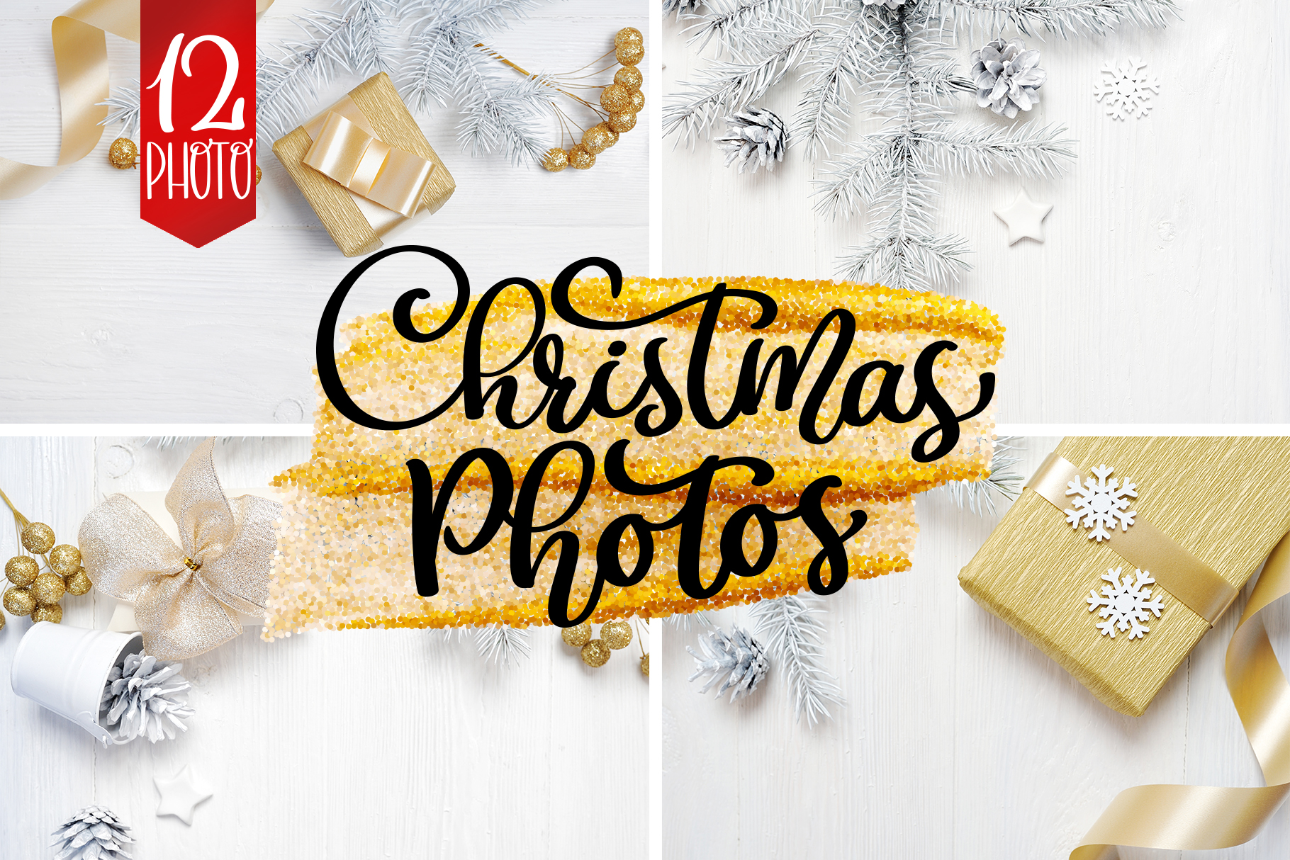 Christmas Photos Set Graphic Holidays By Happy Letters