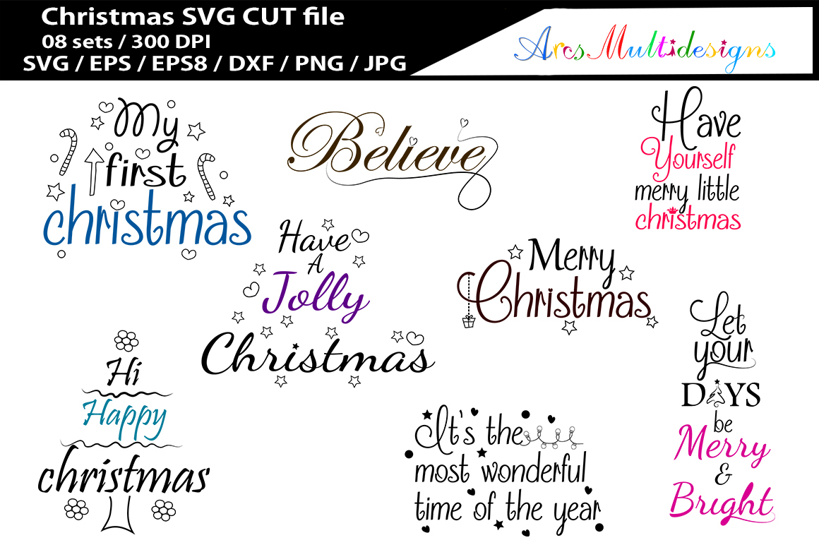 Print on Demand: Christmas Set of 8 Graphic Crafts By Arcs Multidesigns