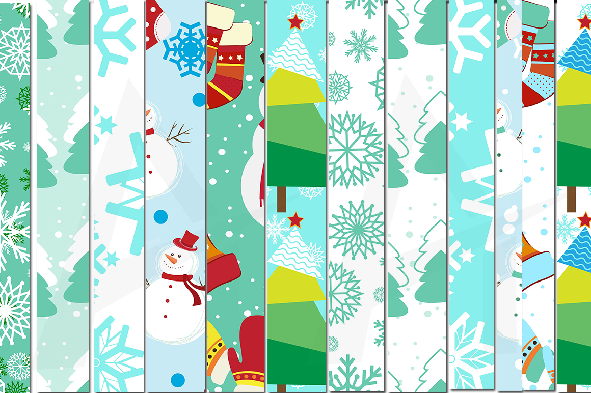 Print on Demand: Christmas and Winter Pattern Set Graphic Patterns By Arcs Multidesigns - Image 2