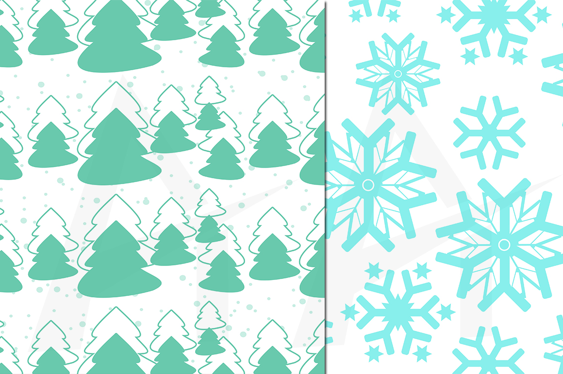Print on Demand: Christmas and Winter Pattern Set Graphic Patterns By Arcs Multidesigns - Image 4