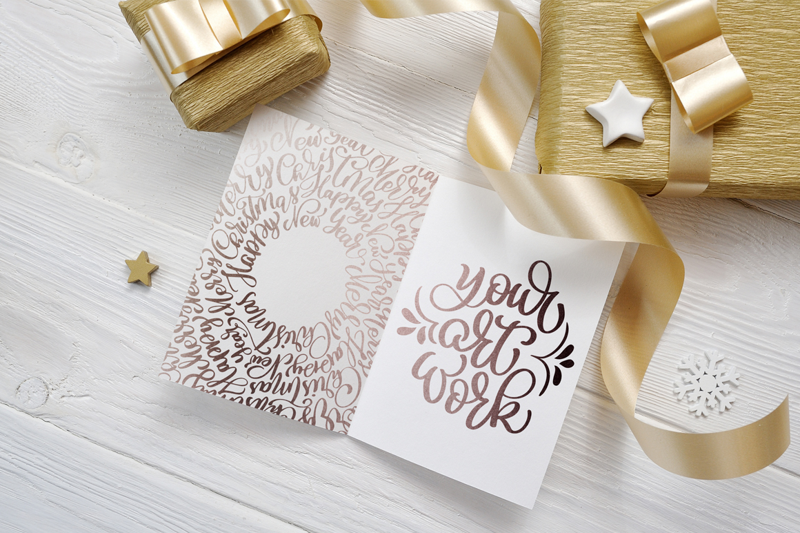 Christmas Background Mock Ups with Smart Object Graphic Product Mockups By Happy Letters - Image 3