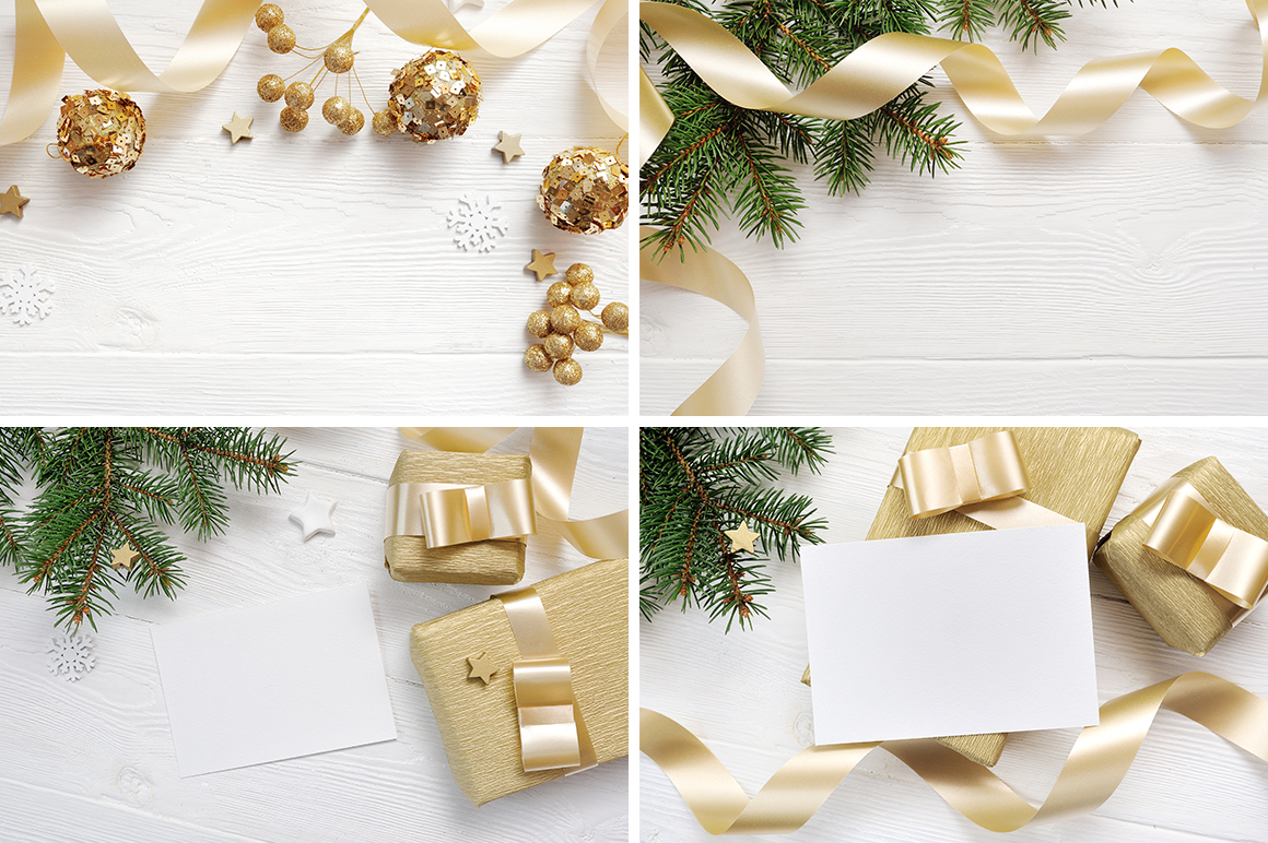 Christmas Background Mock Ups with Smart Object Graphic Product Mockups By Happy Letters - Image 4