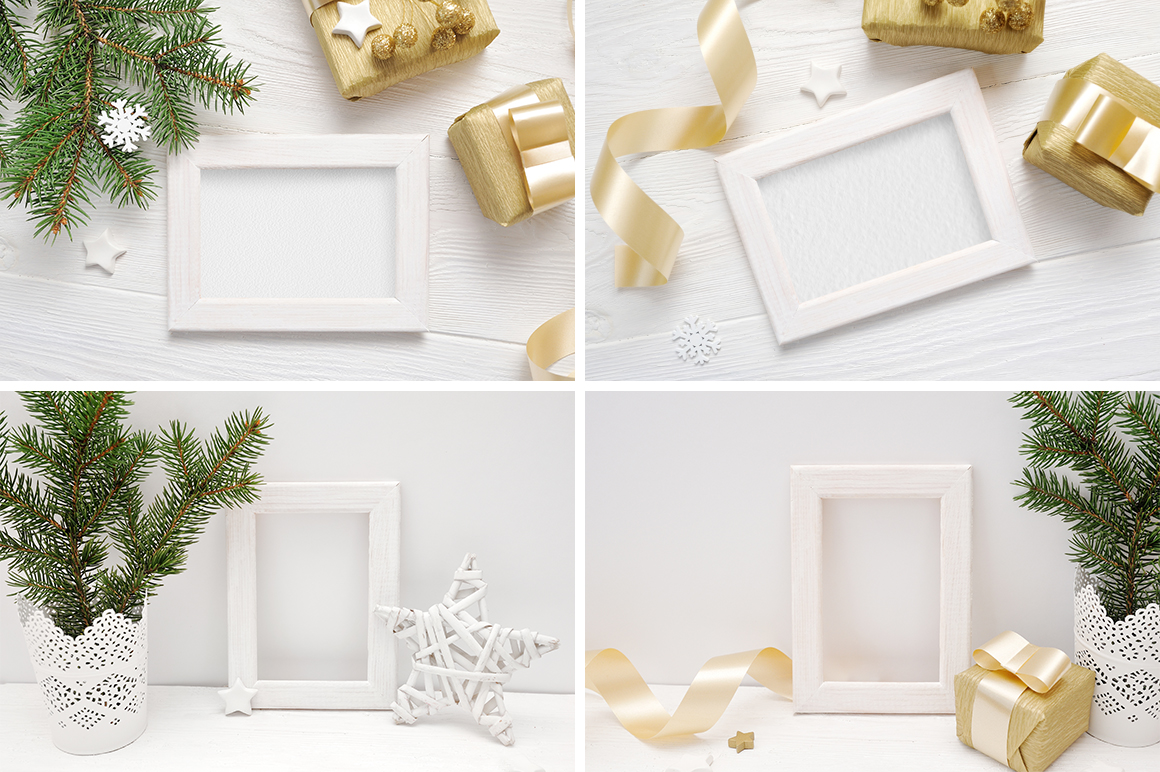 Christmas Background Mock Ups with Smart Object Graphic Product Mockups By Happy Letters - Image 7
