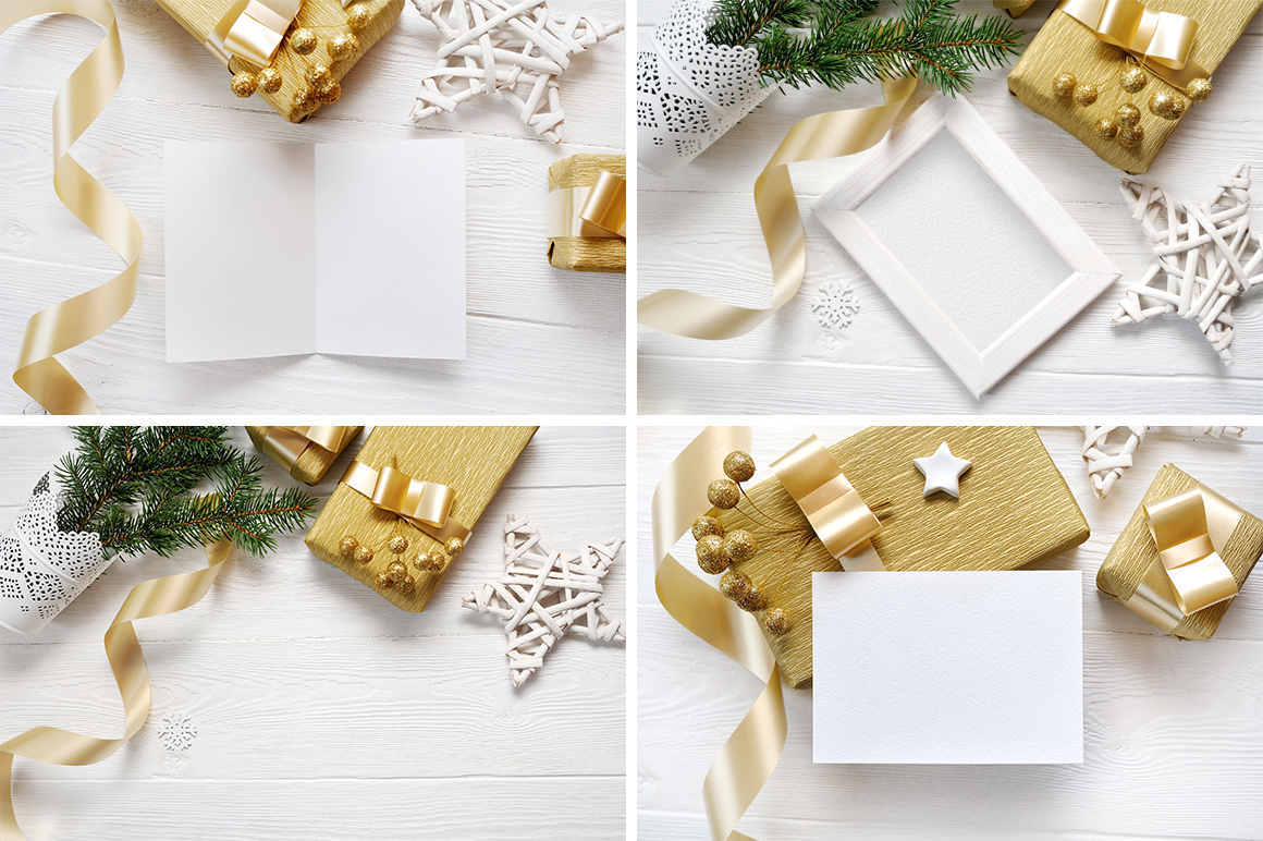 Christmas Background Mock Ups with Smart Object Graphic Product Mockups By Happy Letters - Image 8