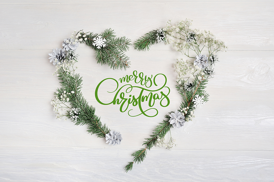 Christmas Heart Wreath Graphic Holidays By Happy Letters - Image 2