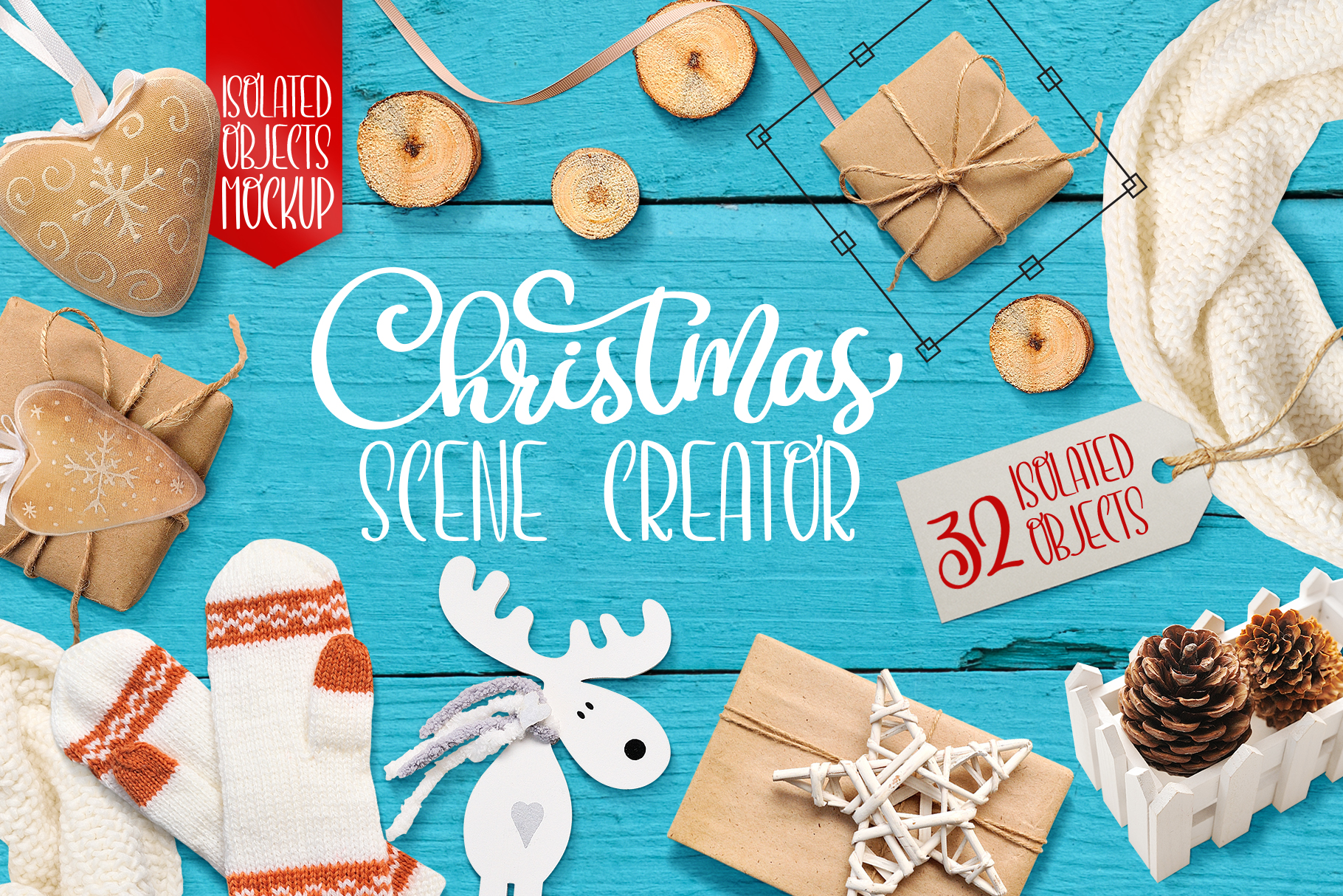 Christmas Scene Creator, Isolated Items Graphic Objects By Happy Letters