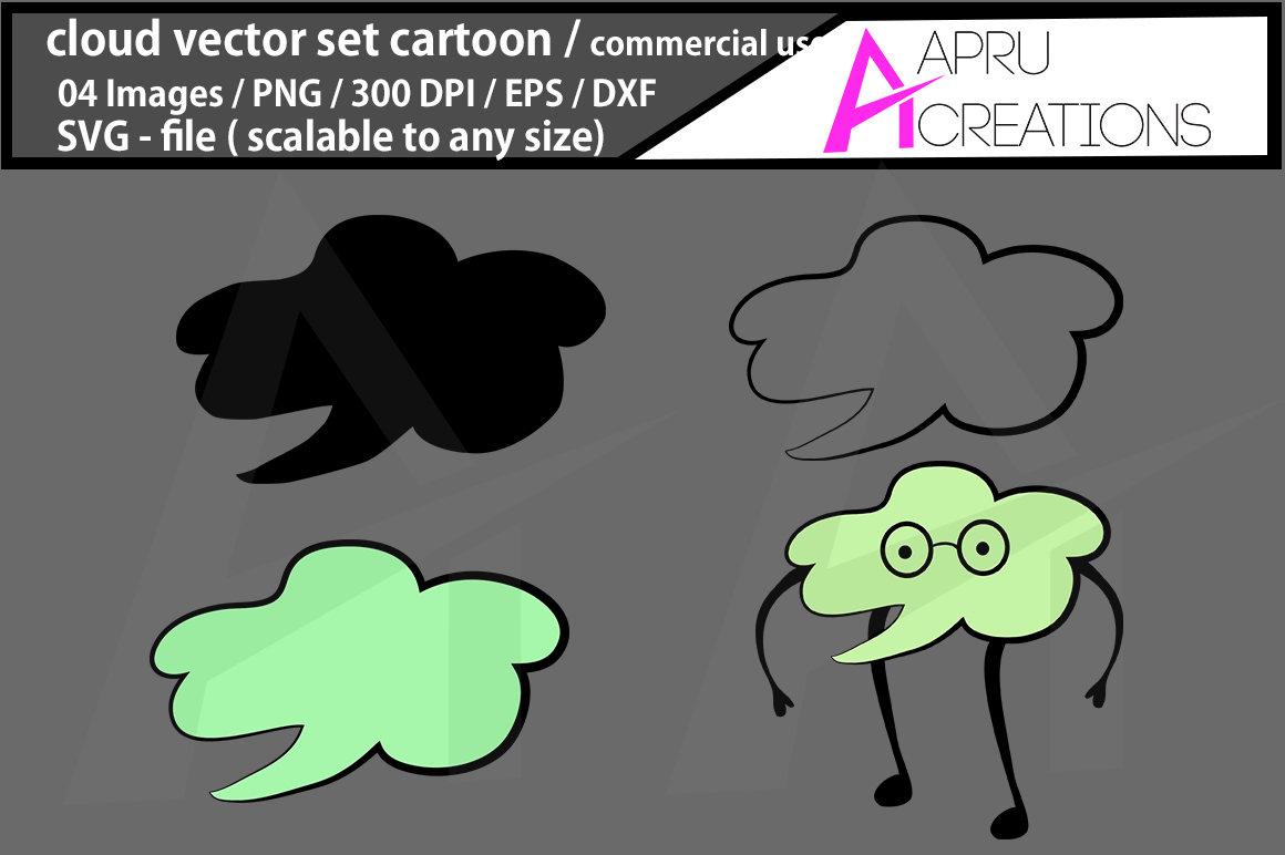 Print on Demand: Cloud Silhouette/Clipart Graphic Icons By aparnastjp