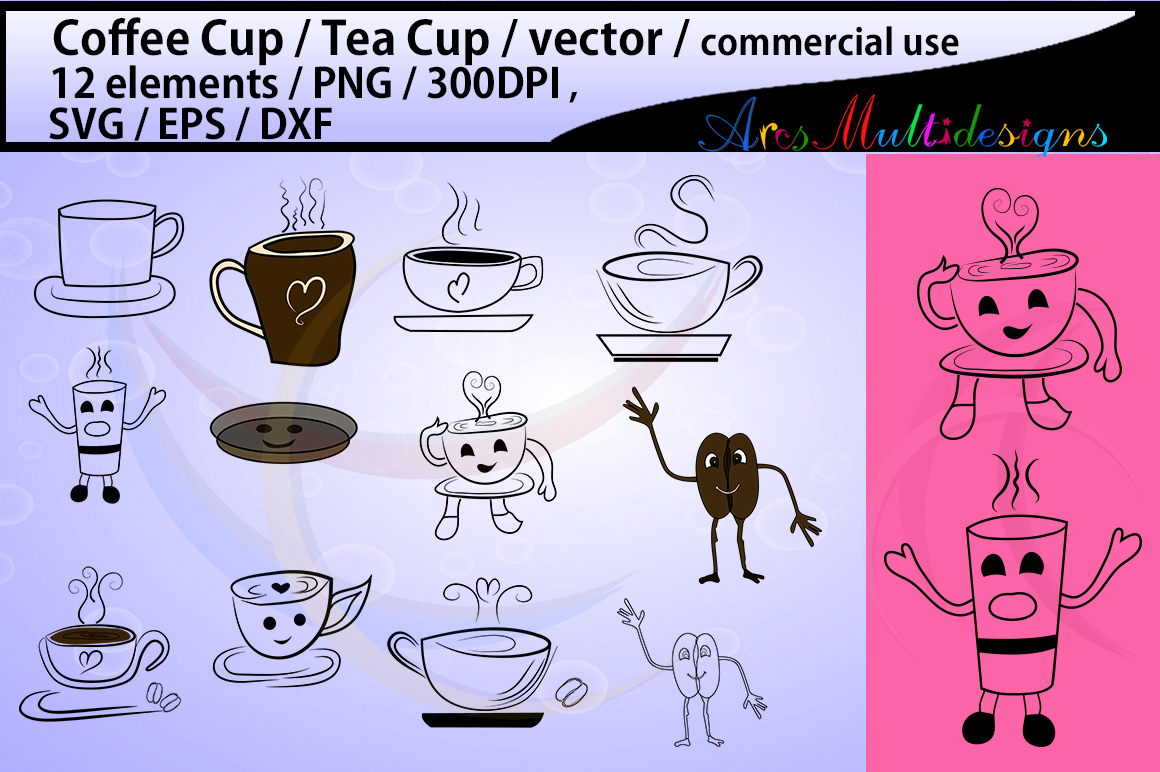 Download Free Coffee Graphic By Arcs Multidesigns Creative Fabrica for Cricut Explore, Silhouette and other cutting machines.