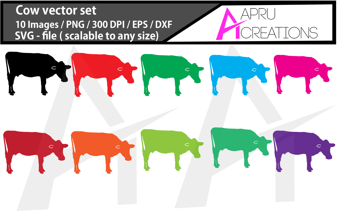 Download Free Cow Silhouette Graphic By Aparnastjp Creative Fabrica for Cricut Explore, Silhouette and other cutting machines.