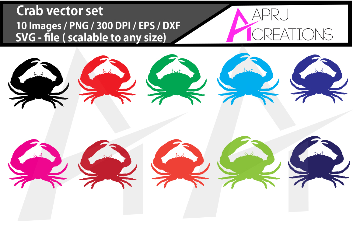 Download Free 1 Crab Design Designs Graphics for Cricut Explore, Silhouette and other cutting machines.