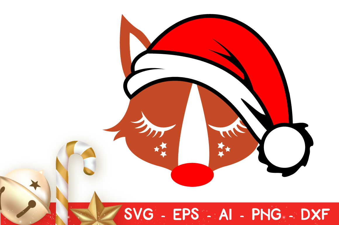 Download Free Cute Christmas Fox Vector Cut File Svg Grafik Von for Cricut Explore, Silhouette and other cutting machines.
