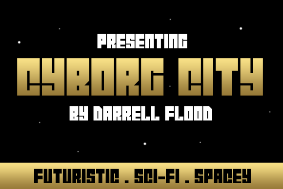 Print on Demand: Cyborg City Display Font By Dadiomouse