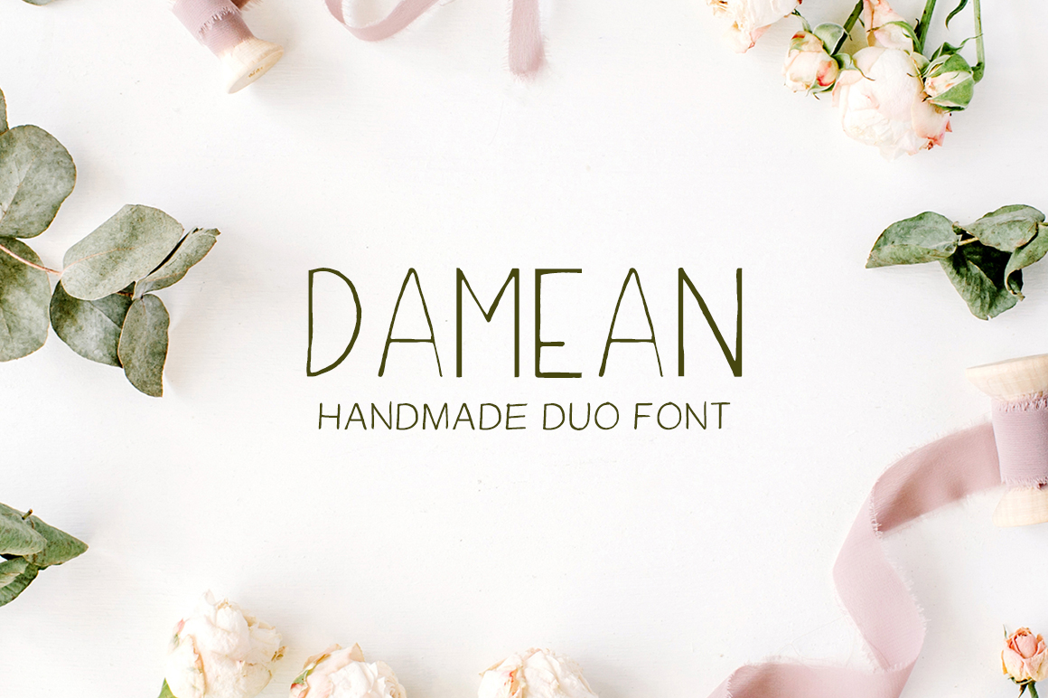 Print on Demand: Damean Handmade Duo Font Sans Serif Font By Creative Tacos