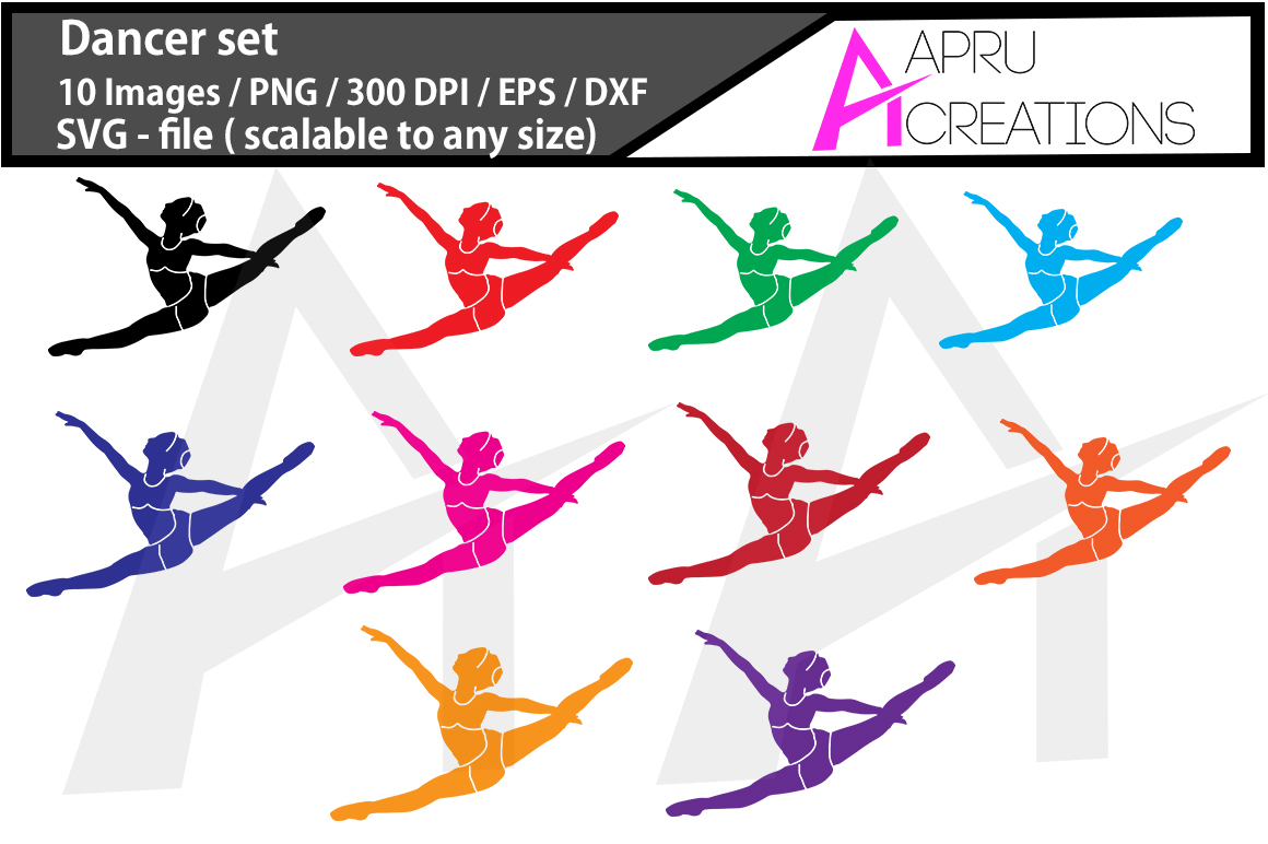 Print on Demand: Dancer Silhouette Graphic Crafts By aparnastjp