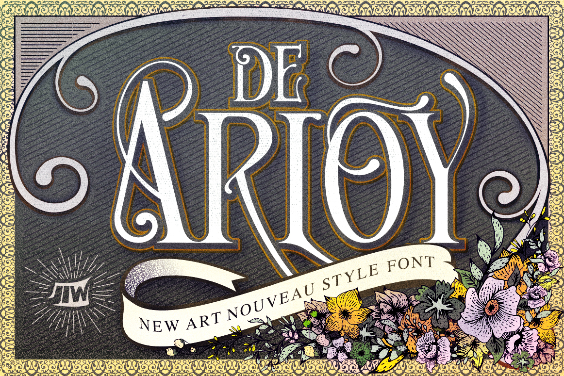 Print on Demand: De Arloy Decorative Font By storictype