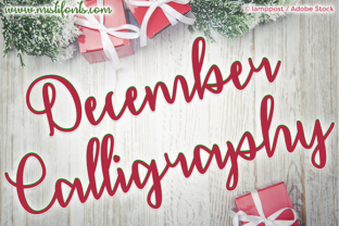 December Calligraphy Font By Misti