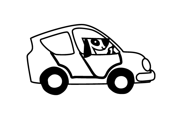 Download Free Dog Driving Car Svg Cut File By Creative Fabrica Crafts for Cricut Explore, Silhouette and other cutting machines.