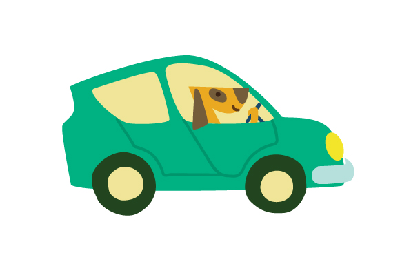 Dog Driving Car Dogs Craft Cut File By Creative Fabrica Crafts