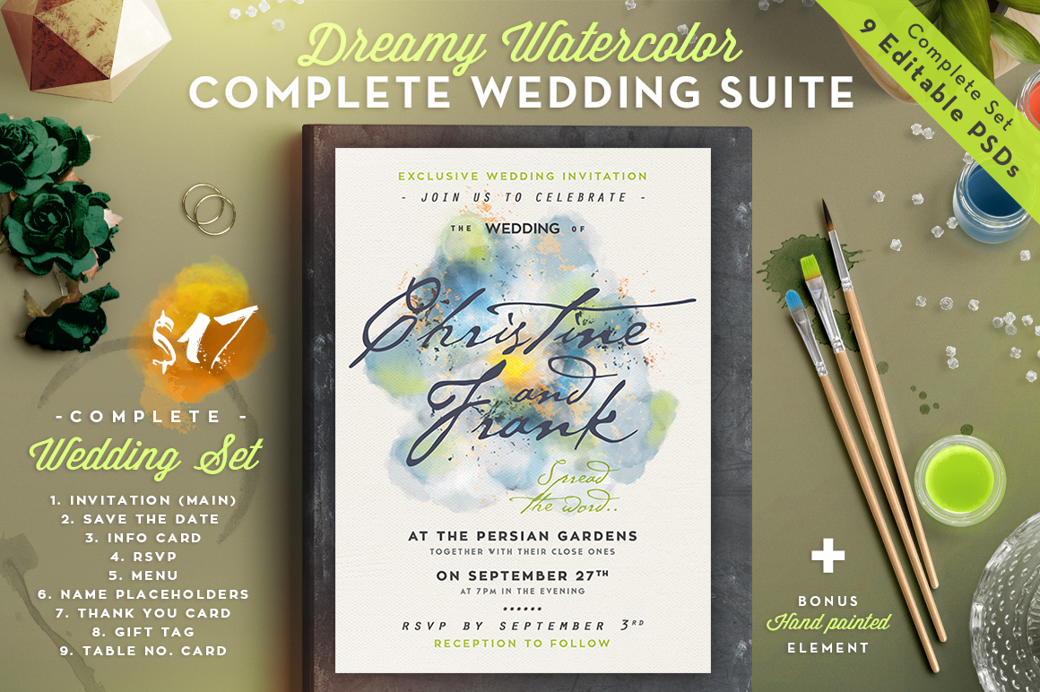 Dreamy Watercolor Wedding Suite III Graphic By lavie1blonde