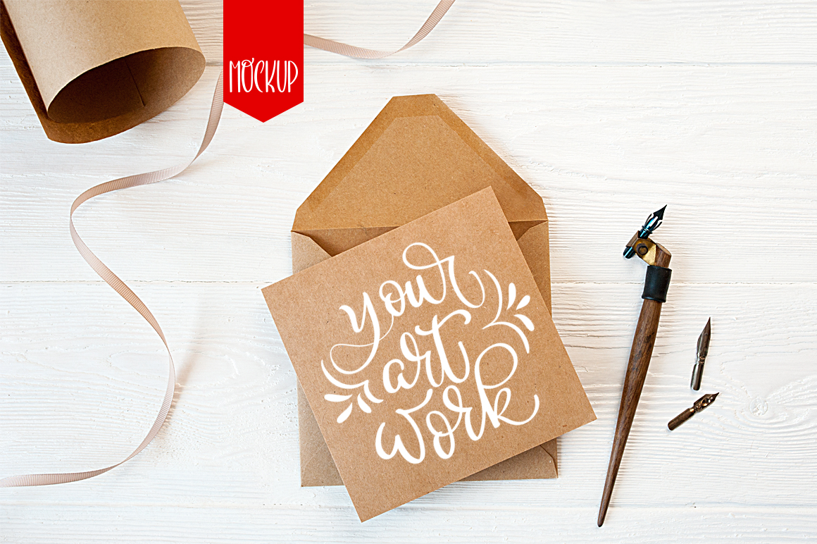 Envelope Letter Mockup Graphic Product Mockups By Happy Letters - Image 1