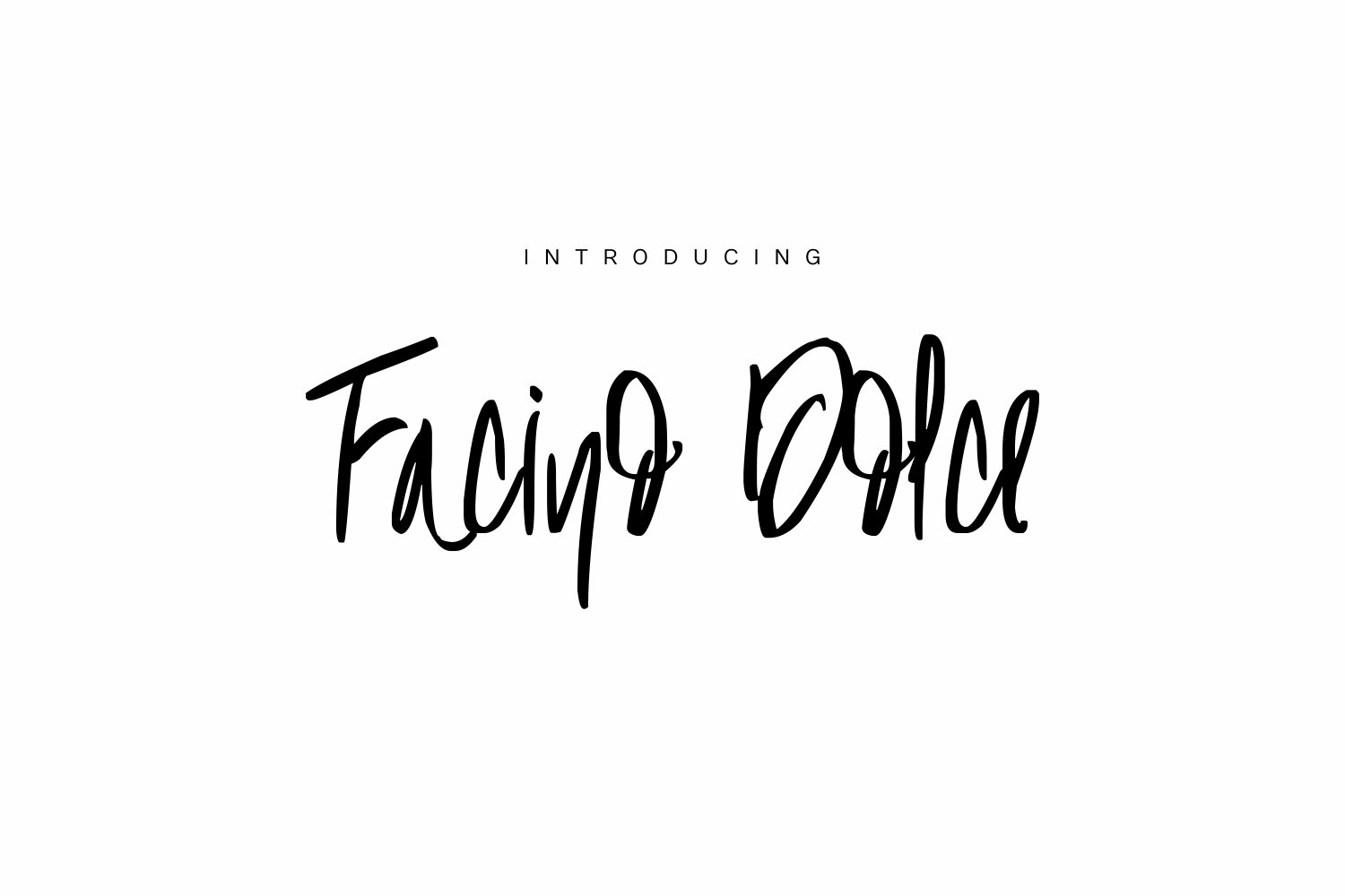 Facino Dolce Font By Marcelo Inez