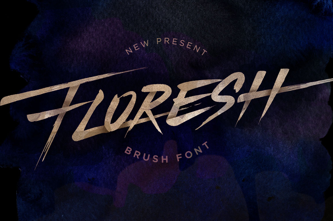 Floresh Display Font By storictype