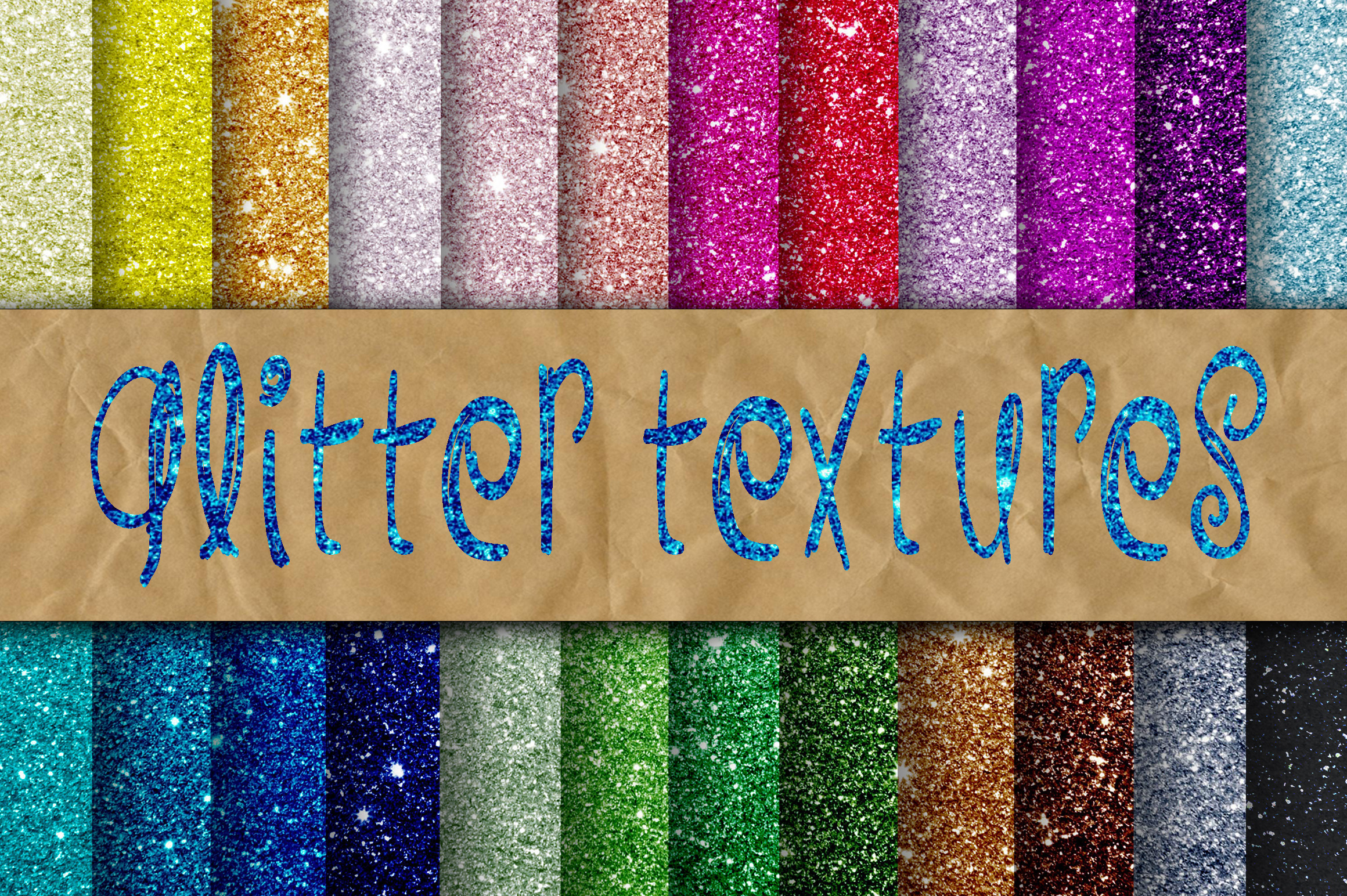 Print on Demand: Glitter Digital Paper Graphic Backgrounds By oldmarketdesigns