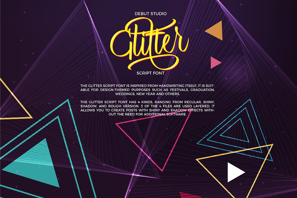 Print on Demand: Glitter Script Script & Handwritten Font By Debut Studio - Image 2