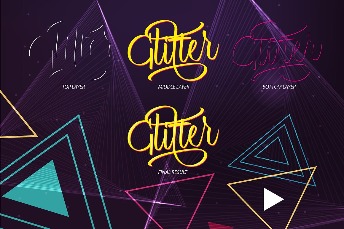 Print on Demand: Glitter Script Script & Handwritten Font By Debut Studio - Image 3