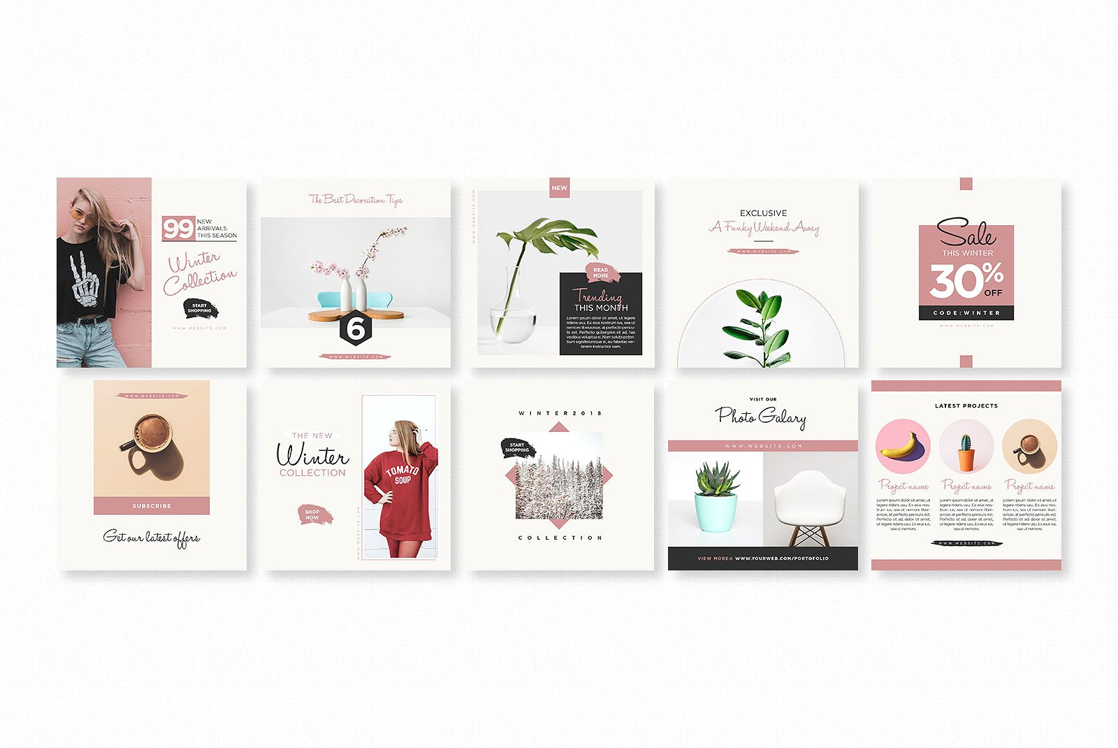 Gravity Instagram Pack Graphic Web Elements By wally6484 - Image 2