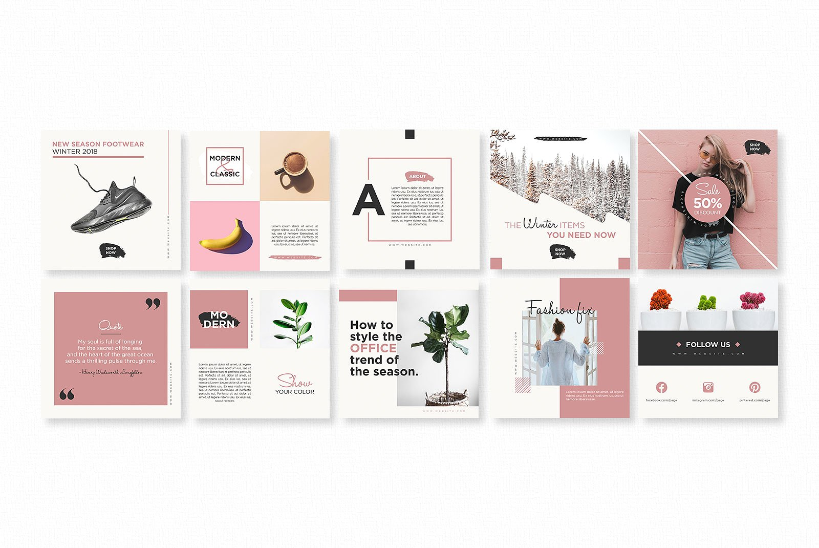 Gravity Instagram Pack Graphic Web Elements By wally6484 - Image 3