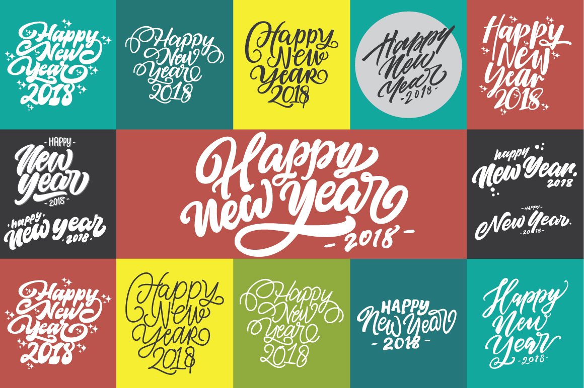 Download Free Happy New Year Lettering Graphic By Patherostudio Creative Fabrica for Cricut Explore, Silhouette and other cutting machines.