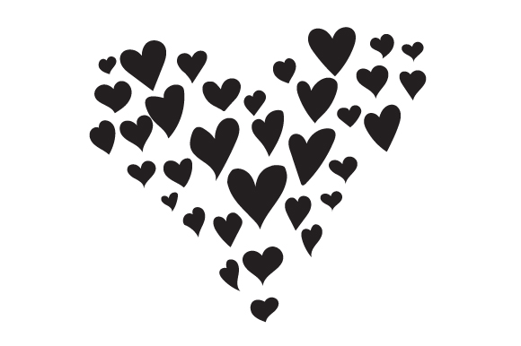 Download Free Heart Made Out Of Hearts Svg Cut File By Creative Fabrica Crafts for Cricut Explore, Silhouette and other cutting machines.