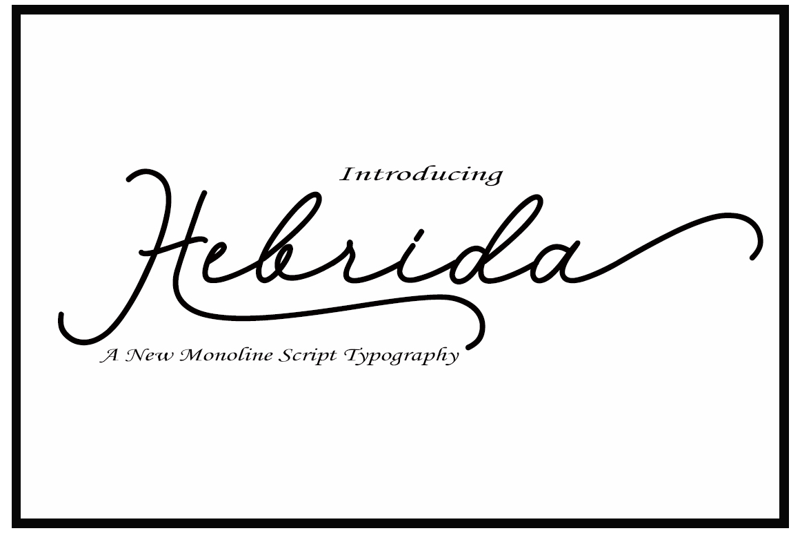 Print on Demand: Hebrida Script Script & Handwritten Font By typedesign93 - Image 1