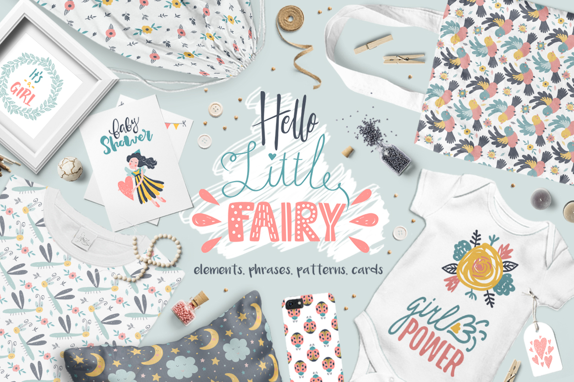 Hello Little Fairy Graphic Patterns By ekaterinakiriy