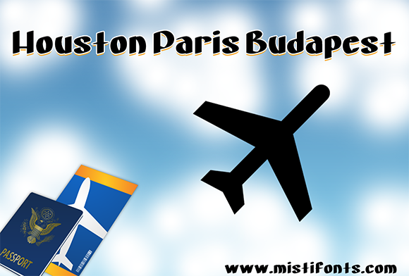 Print on Demand: Houston Paris Budapest Display Font By Misti