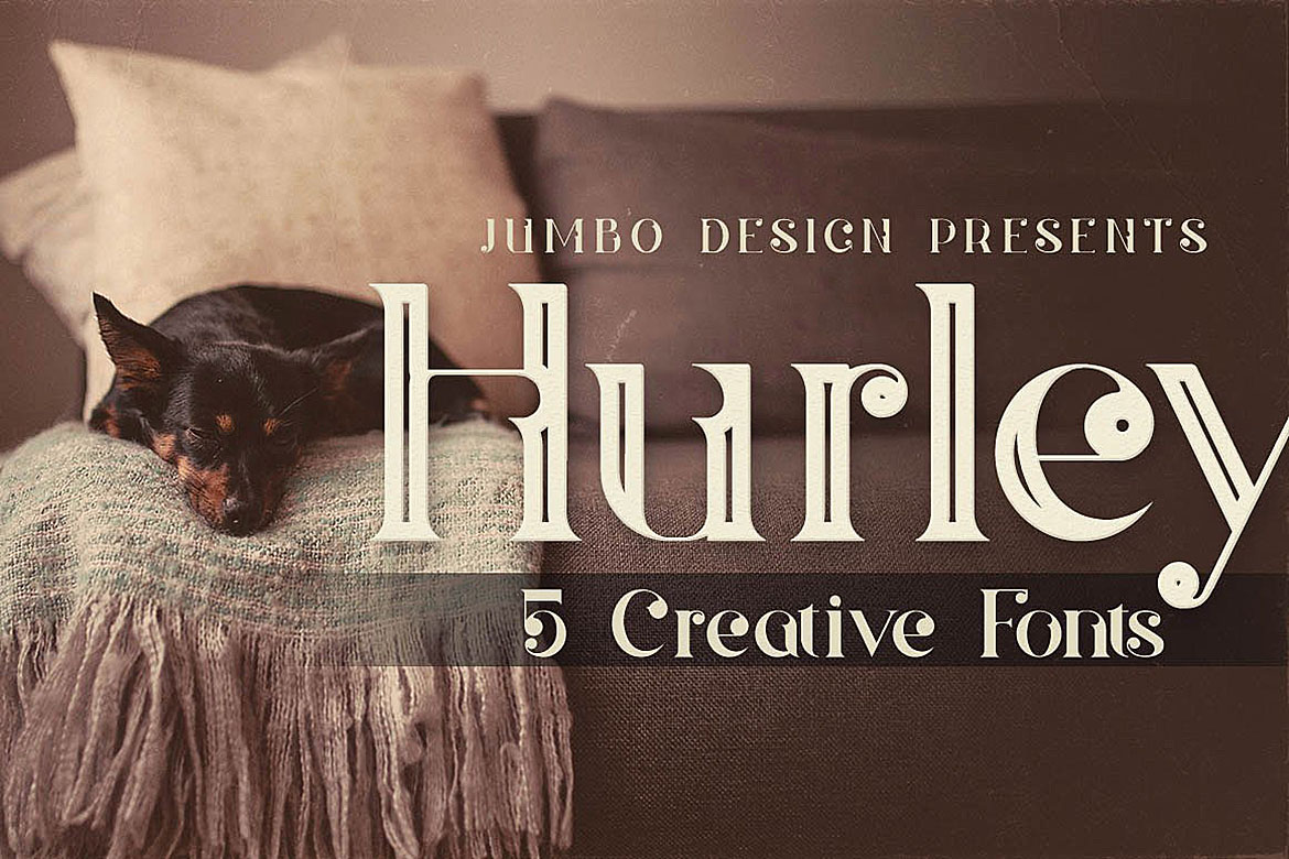 Print on Demand: Hurley Display Schriftarten von JumboDesign