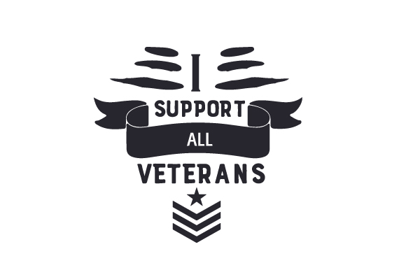 I Support All Veterans Svg Cut File By Creative Fabrica