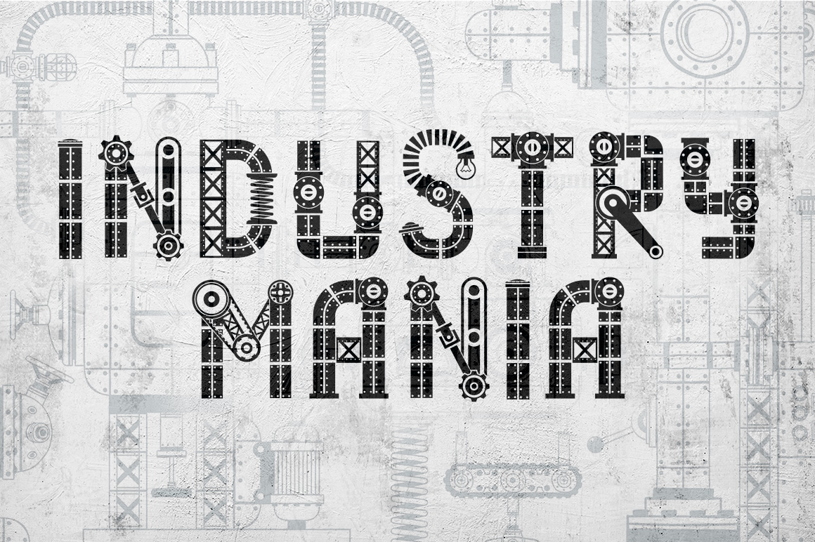 IndustryMania - Steampunk Font Font By Agor2012