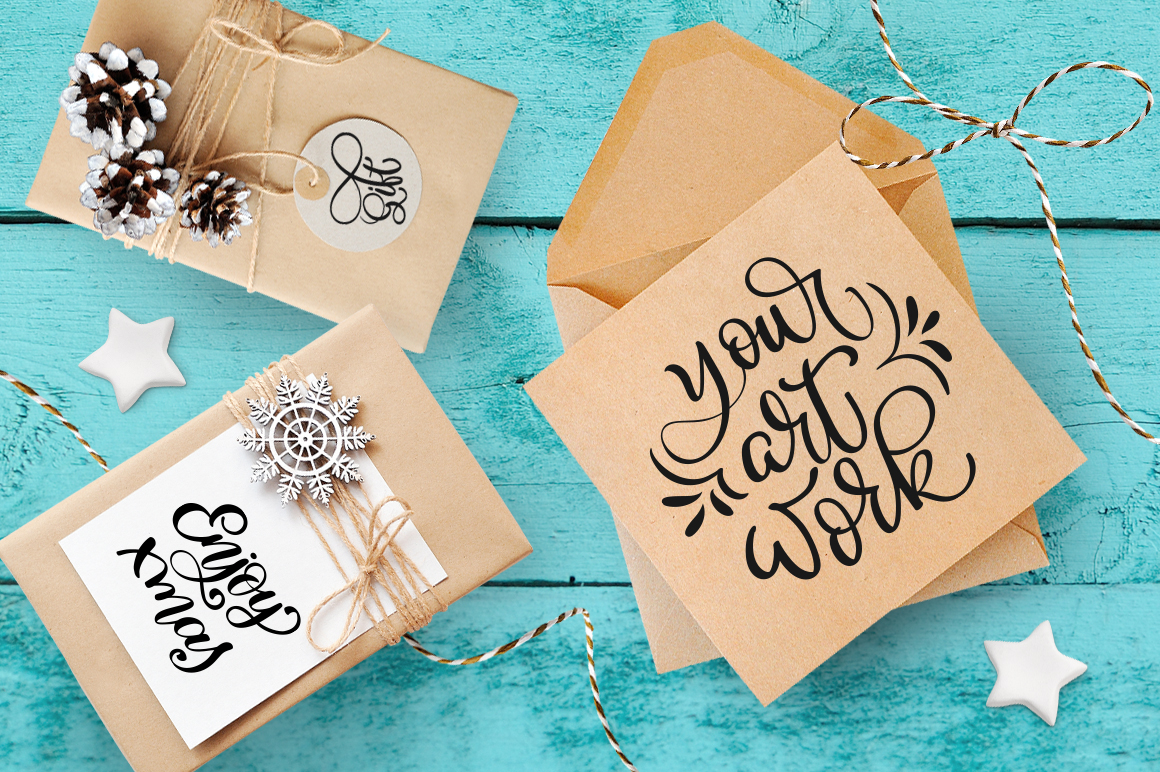 Isolated Gift Christmas Mockups Graphic Product Mockups By Happy Letters - Image 2