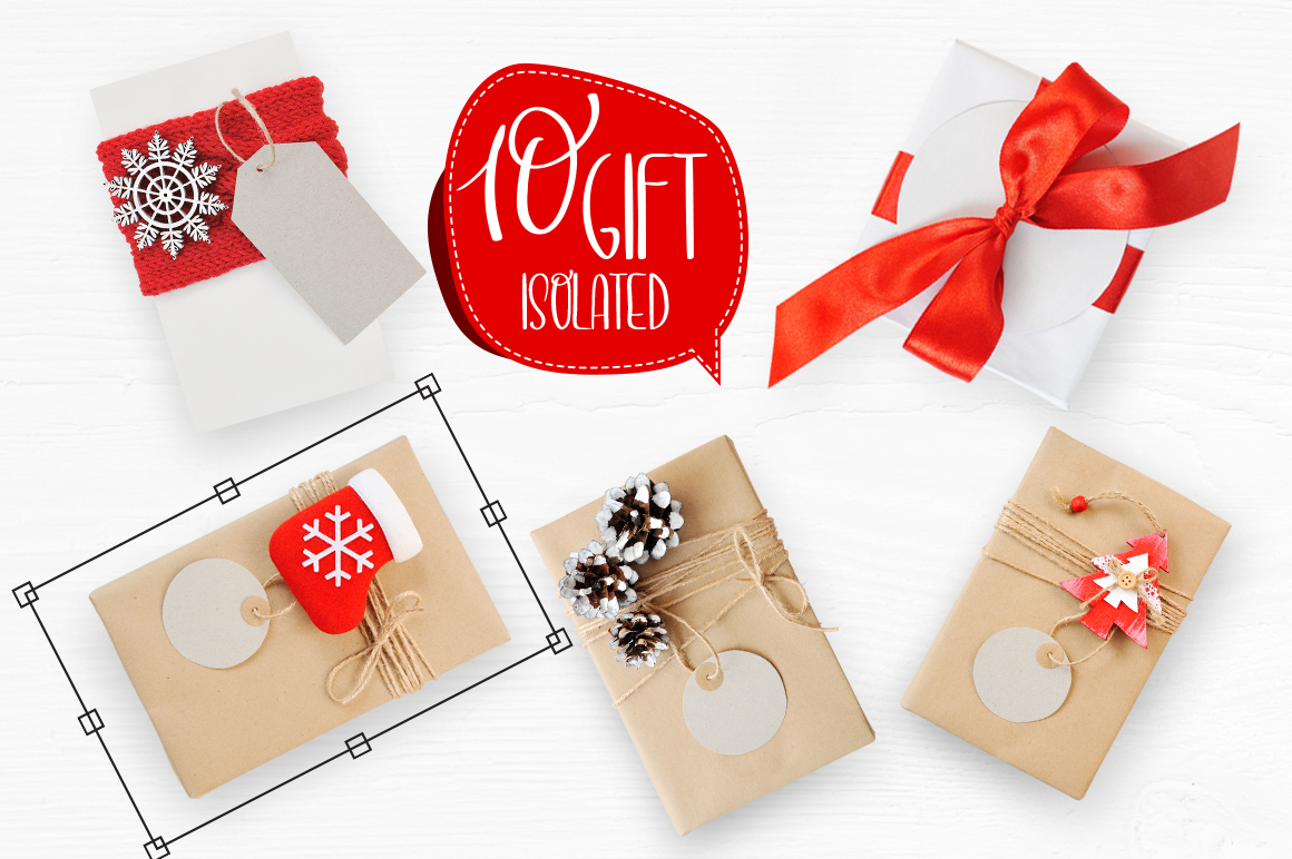 Isolated Gift Christmas Mockups Graphic Product Mockups By Happy Letters - Image 6