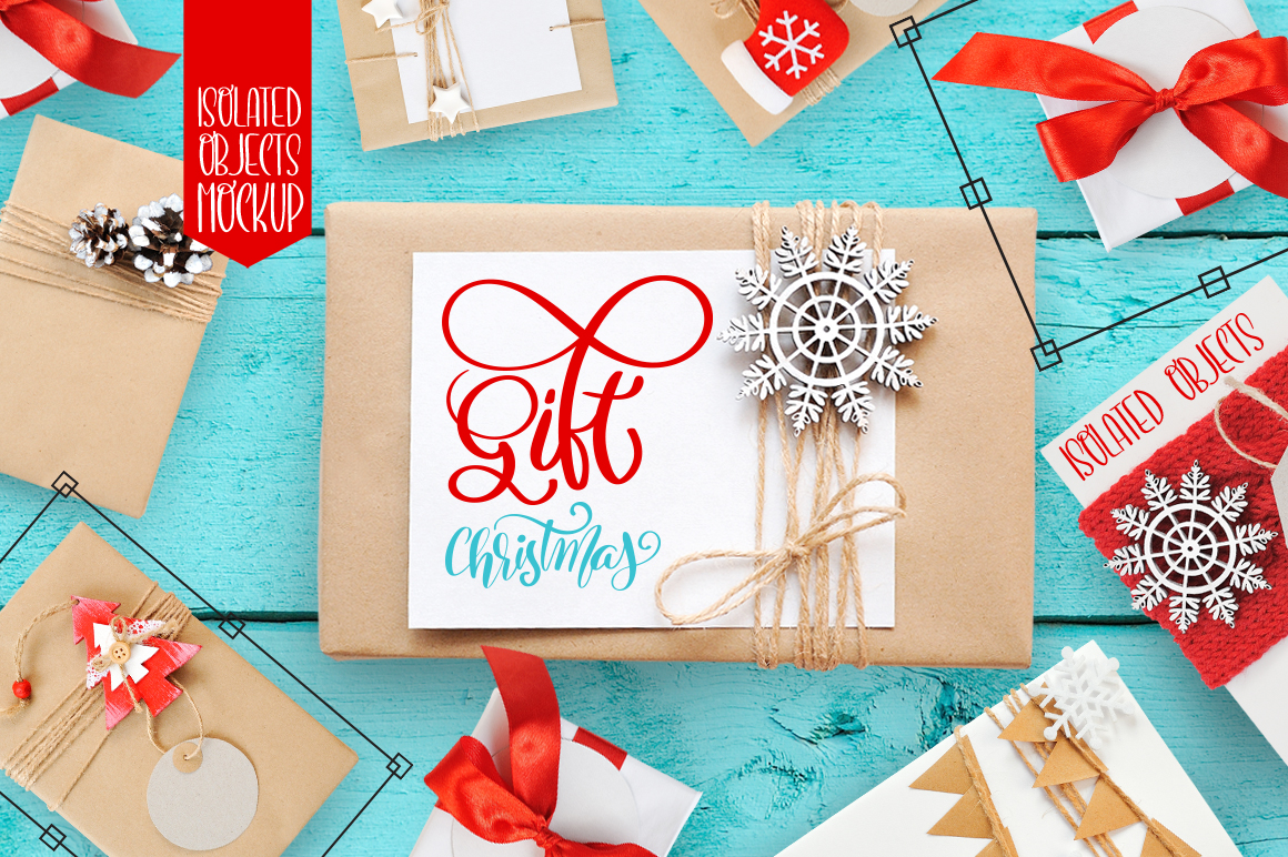 Isolated Gift Christmas Mockups Graphic Product Mockups By Happy Letters