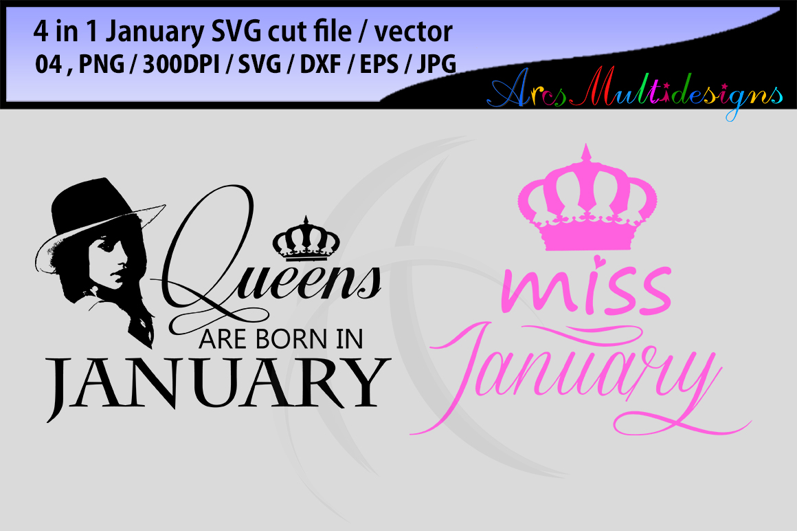 Print on Demand: January Girl Bundle Graphic Illustrations By Arcs Multidesigns - Image 1