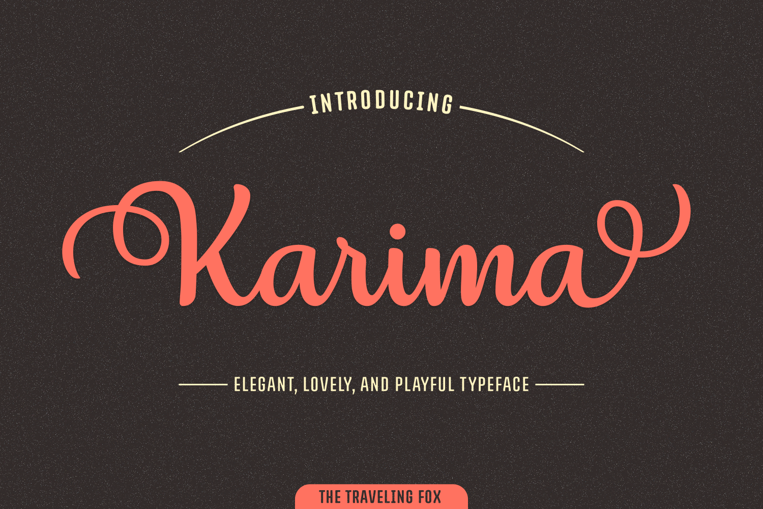 Karima Font By The Traveling Fox