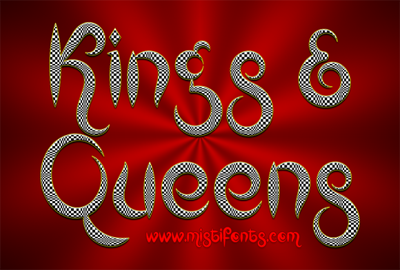Print on Demand: Kings and Queens Decorative Font By Misti