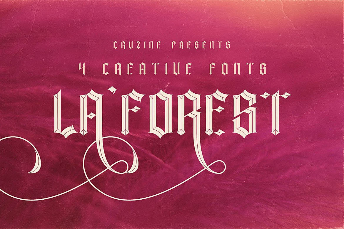 Print on Demand: La Forest Display Font By JumboDesign