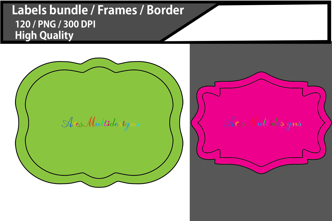 Label Frames Clip Art Design Graphic Download