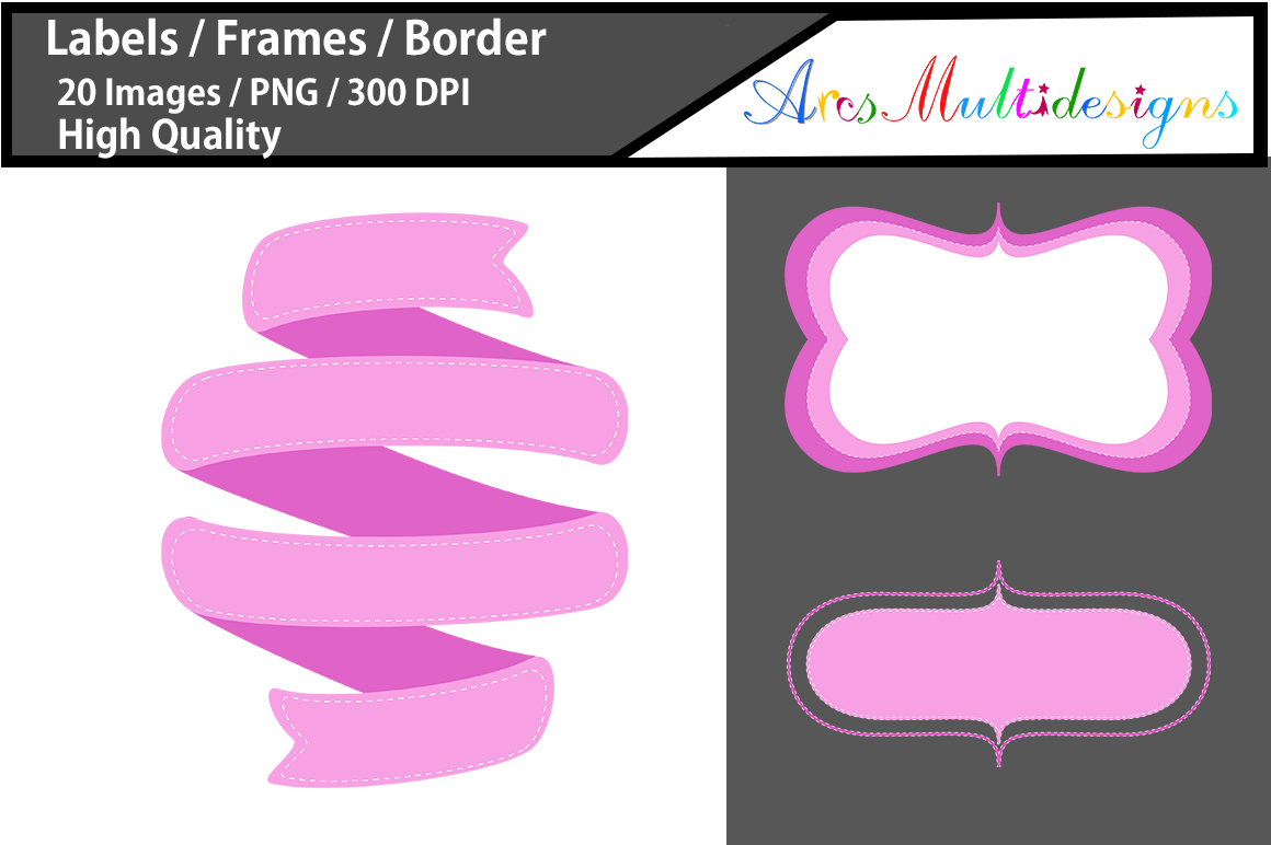 Print on Demand: Lables | Frames | Borders Graphic Graphic Templates By Arcs Multidesigns - Image 2